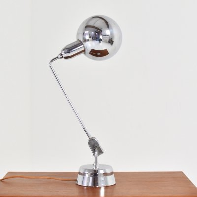 Table light selected by Charlotte Perriand for Maison Jumo, France 1940's