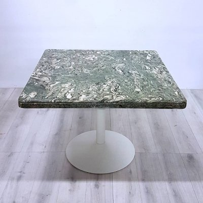 Verde Alpi marble dining table on tulip base, 1970s