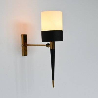 French brass sconce, 1950