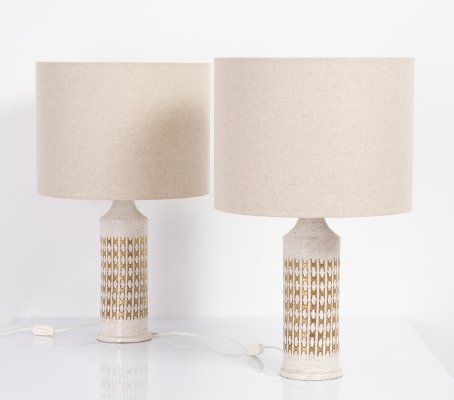 Pair of table lamps by Bergboms, 1950s