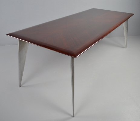 M-series mahogany dining table by Philippe Starck for Aleph, 1987