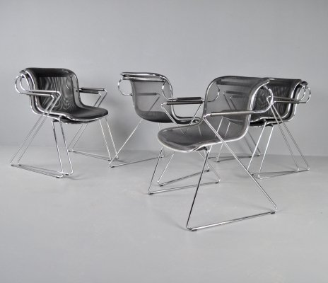6x Castelli Penelope chairs by Charles Pollock, 1982