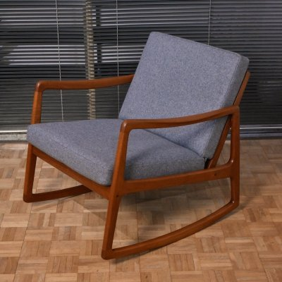 Ole Wanscher Model 120 Teak Rocking Chair for France & Son