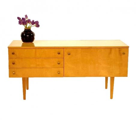 Vintage birch sideboard, 1960s