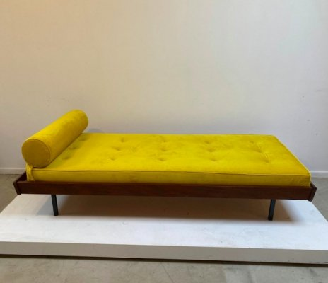 Yellow velvet daybed, 1970s