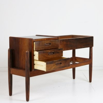 Danish rosewood three drawer planter cabinet by Arne Wahl Iversen