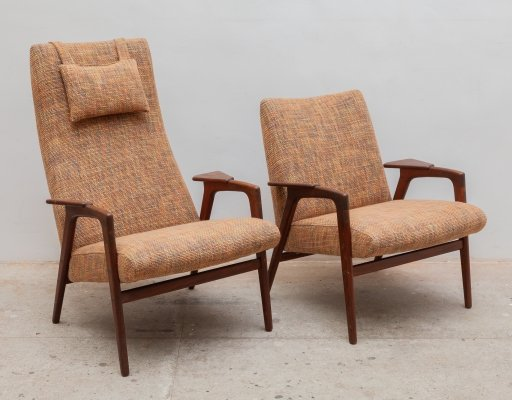 Pair of Ruster lounge chairs by Yngve Ekström for Pastoe, 1960s