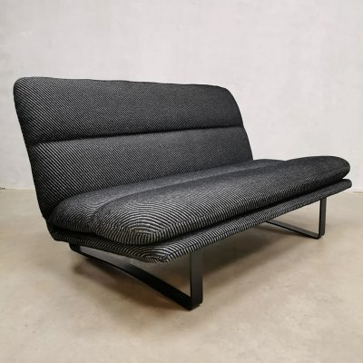 Midcentury Dutch design C683 Artifort 2 seater lounge sofa by Kho Liang Ie, 1960s