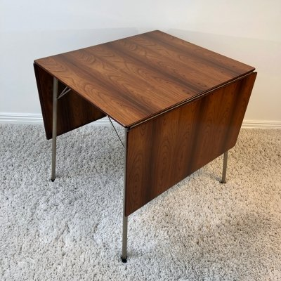 Arne Jacobsen FH 3601 Brazilian Rosewood drop leaf dining table, 1960's