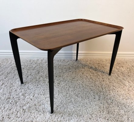 Svend Åge Willumsen & Hans Engholm teak tray side table, 1950's