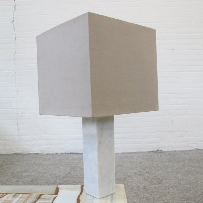 Vintage marble table lamp, 70s
