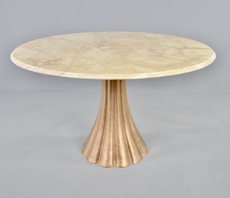 Stunning marble & cast iron dining table by Angelo Mangiarotti, 1970s