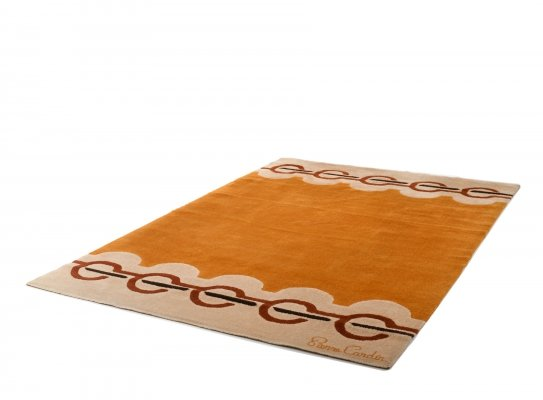 1960's large Vintage Wool Rug by Pierre Cardin
