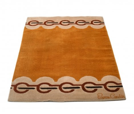 1960's Vintage Wool Rug by Pierre Cardin
