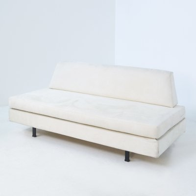Italian Daybed by IPE in white fabric & iron, 1960s
