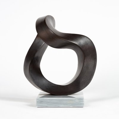 Bronze sculpture by the Swiss artist André Ramseyer, 1980s