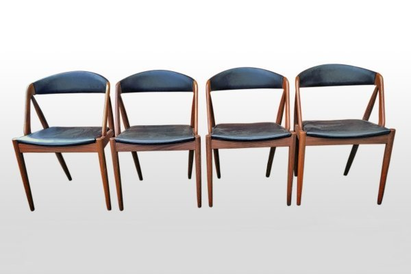Set of 4 model 31 dining chairs by Kai Kristiansen, 1960s