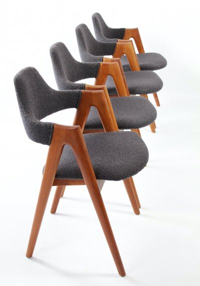Compass chairs by Kai Kristiansen for SVA Møbler Denmark