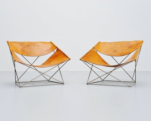 Pair of Pierre Paulin F675 Butterfly chairs for Artifort, 1963