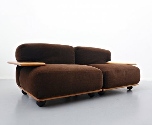 2 x Pianura Sofa by Mario Bellini for Cassina, 1970s