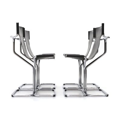 4 'Topos' chairs by Gruppo DAM for Busnelli, 70s