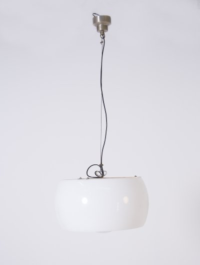 'Omega' Big white Hanging Lamp by Vico Magistretti for Artemide, 1962s