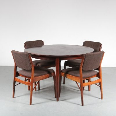 Dining set by Arne Vodder for Sibast, 1950s