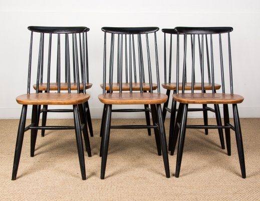 Set of 6 Swedish Dining chairs model 'Nesto' by Nassjo Stolefabrik, 1960