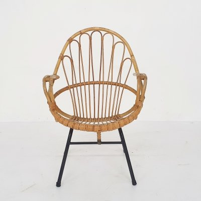 Rohe Noordwolde bamboo lounge chair, The Netherlands 1950's