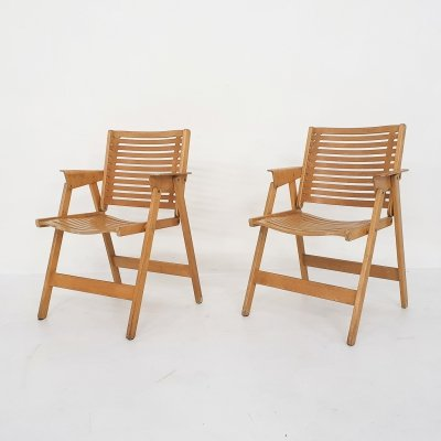 Set of 2 Niko Kralj folding chairs for Impakta Les, Slovenia 1956