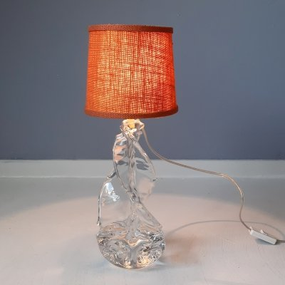 French Crystal Table Lamp, 1960s