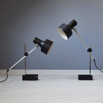 Set of 2 Adjustable Desk Lamps by Anvia, 1960s