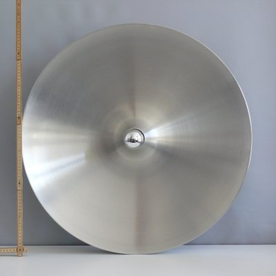 Large space age discus wall lamp by Staff, 1960s