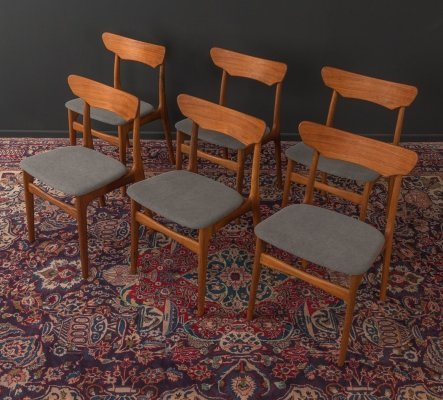 Set of 6 chairs by Schiønning & Elgaard, 1960s