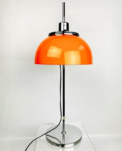 Height adjustable Faro ('Lighthouse') table lamp by Luigi Massoni, 1970s