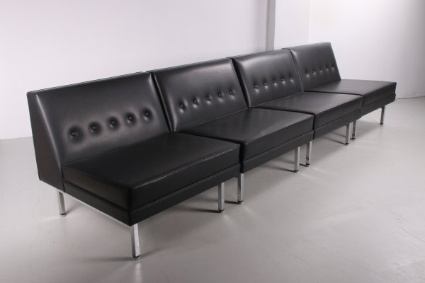 Mid Century 4 element sofa by George Nelson for Herman Miller, 1960s