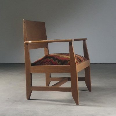 1930s Rationalist / 'Haagse School' arm chair by Architect Hendrik Wouda