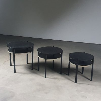 'Machine' nesting tables by De Gulden Roos, Maastricht 1930s