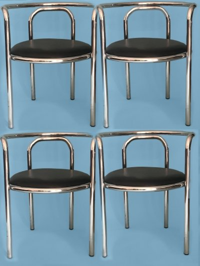 Set of 4 Vintage Locus Solus chairs by Gae Aulenti for Zanotta, 1960s