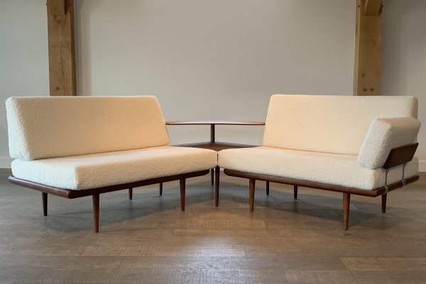 Bouclé Minerva Sofa by Peter Hvidt & Orla Molgaard for France & Daverkosen