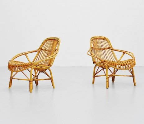 Janine Abraham & Dirk Jan Rol 'Mantis' lounge chairs, France 1950s