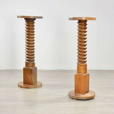 Pair of Early 20th C French Side Tables or Pedestals