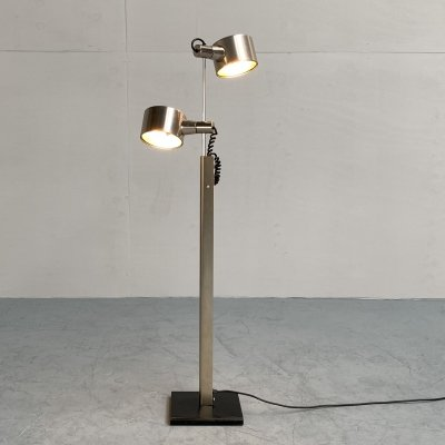 Twin spotlight floor lamp by Ronald Homes for Conelight, England 1970s