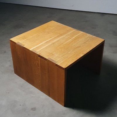 Minimal 1970s coffee table in solid wood