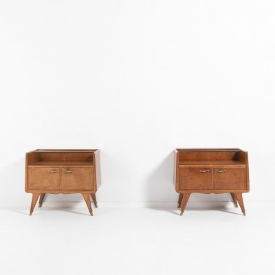 Pair of bedside tables by La Permanente Mobili Cantu, Italy 1950's