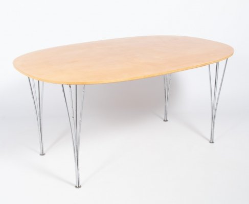 Ellips Dining Table by Piet Hein & Bruno Mathsson for Fritz Hansen