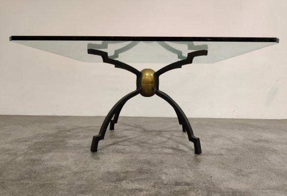 Peter Ghyczy iron & brass coffee table