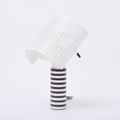 Postmodern Italian black & white table lamp 'Shogun' by Mario Botta for Artemide