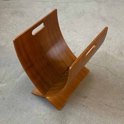 Bentwood magazine holder, 1980s