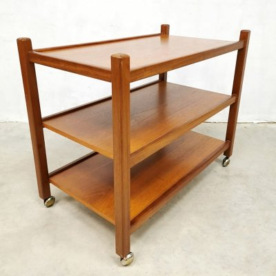 Midcentury Danish teak serving trolley